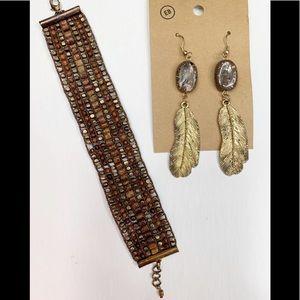 Jewelry - Boho Style Bracelet & Earrings
